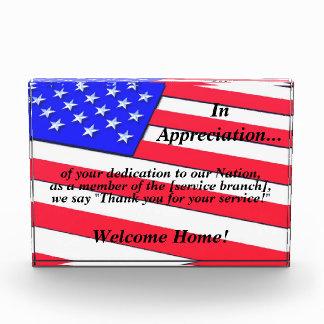 US Flag w/ 3D appearance (Returning Veteran Award)