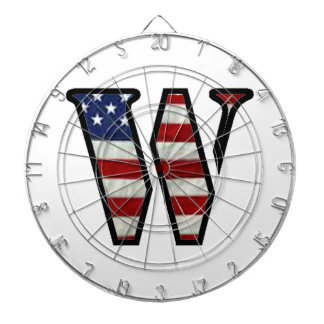 """US Flag """"W"""" Dart Board"""