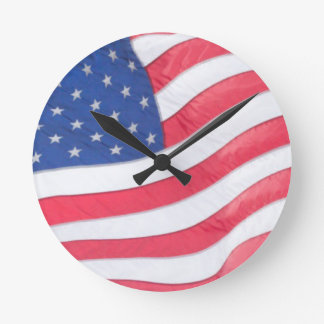 US Flag Wall Clock