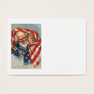 US Flag War Veteran Girl Business Card