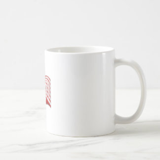 US Flag Wave Stacked Diffuse Coffee Mug