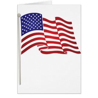 US Flag Waving Card