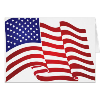 US Flag Waving Cards