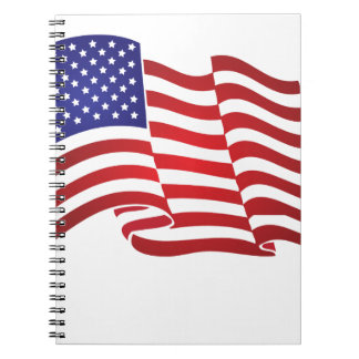 US Flag Waving Journals