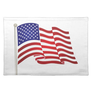 US Flag Waving Placemat