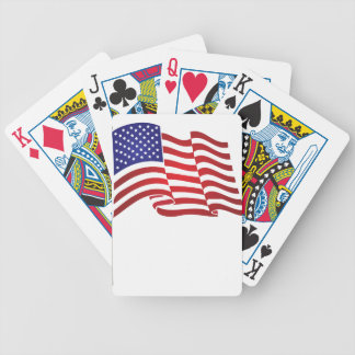 US Flag Waving Bicycle Playing Cards