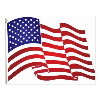 US Flag Waving Post Card
