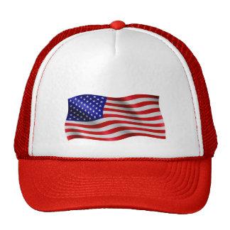 US Flag Wavy - Trucker Hat