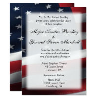 US Flag Wedding & Reception Invitations 5.5