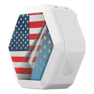 US Flag White Bluetooth Speaker