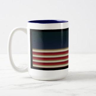 US Flag with-Customizeable Two-Tone Coffee Mug