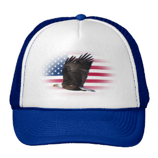 US Flag with Eagle Trucker Hat