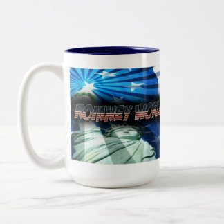 US Flag with-Romney World Insult Tour Two-Tone Coffee Mug