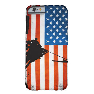 US Flag with Veterans Silhouettes Barely There iPhone 6 Case