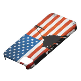 US Flag with Veterans Silhouettes iPhone 5 Cases