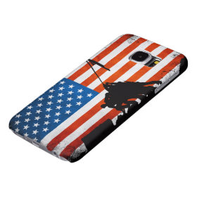 US Flag with Veterans Silhouettes Patriotic Samsung Galaxy S6 Cases