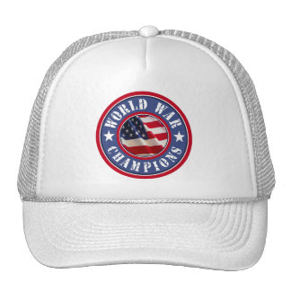 US Flag World War Champions Trucker Hat