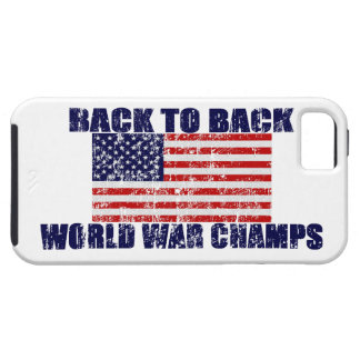 US Flag World War Champs Distressed iPhone 5 Case