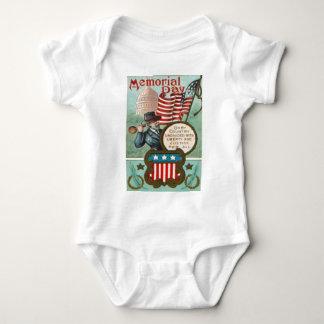 US Flag Wreath Civil War Union Soldier Congress Dr Baby Bodysuit