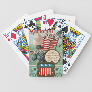 US Flag Wreath Civil War Union Soldier Congress Dr Bicycle Playing Cards