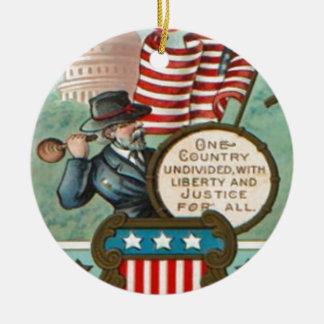 US Flag Wreath Civil War Union Soldier Congress Dr Ornament
