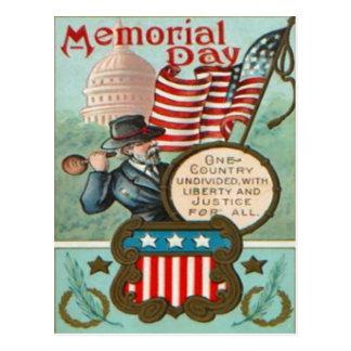 US Flag Wreath Civil War Union Soldier Congress Dr Postcard