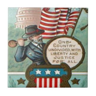 US Flag Wreath Civil War Union Soldier Congress Dr Small Square Tile