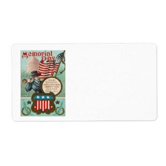US Flag Wreath Civil War Union Soldier Congress Label