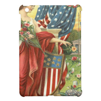 US Flag Wreath Lady Liberty Cemetery iPad Mini Cases