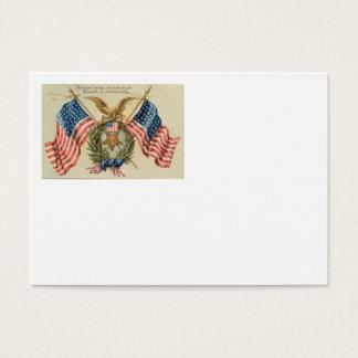 US Flag Wreath Medal Eagle Business Card