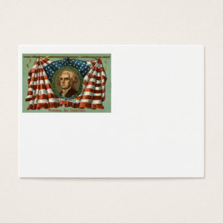 US Flag Wreath Memorial Day Business Card