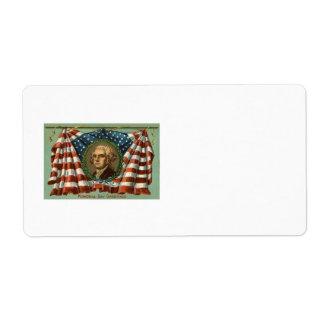 US Flag Wreath Memorial Day Label