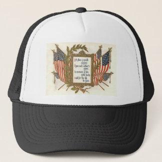US Flag Wreath Memorial Day Trucker Hat
