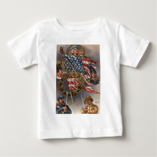 US Flag Wreath Military Memorial Day Baby T-Shirt