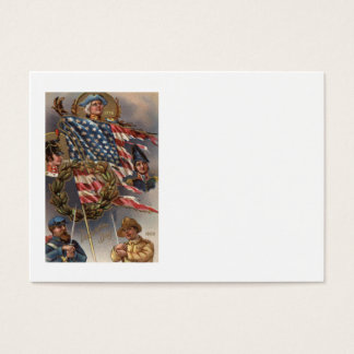 US Flag Wreath Military Memorial Day Business Card