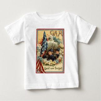 US Flag Wreath Parade March Civil War Baby T-Shirt