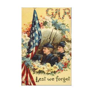 US Flag Wreath Parade March Civil War Canvas Print
