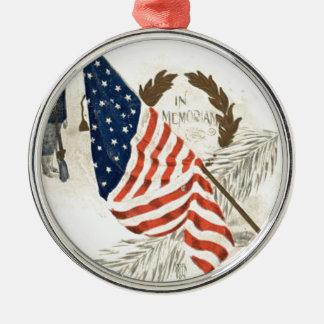 US Flag Wreath Union Soldier Ornament