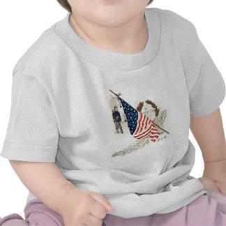 US Flag Wreath Union Soldier T-shirt