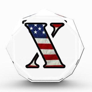 """US Flag """"X"""" Acrylic Award"""