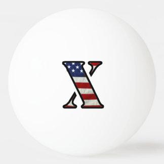 """US Flag """"X"""" Ping-Pong Ball"""