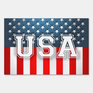 US Flag Yard Signs