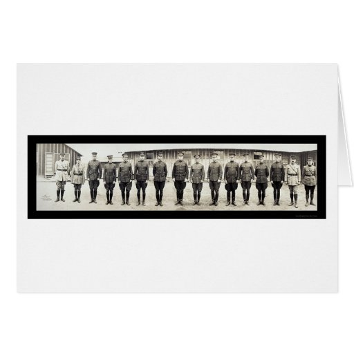 US French Army Officers Photo 1917 Greeting Card