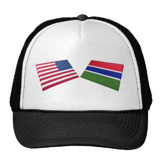 US & Gambia Flags Trucker Hat
