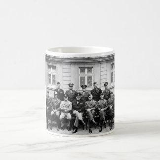 US Generals WWII -- Ike, Patton, Bradley Classic White Coffee Mug