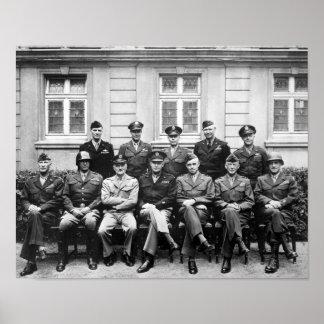 US Generals WWII -- Ike, Patton, Bradley Poster