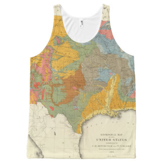US Geological Map All-Over-Print Tank Top