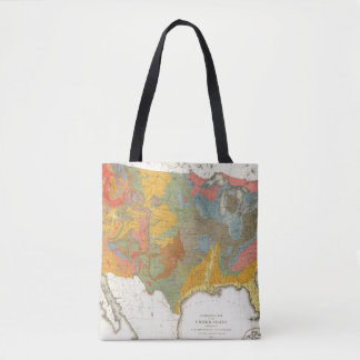 US Geological Map Tote Bag