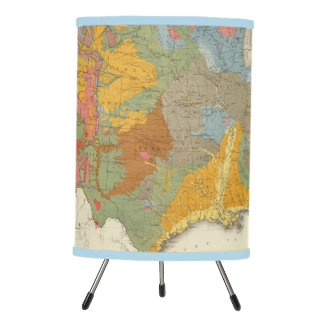 US Geological Map Tripod Lamp