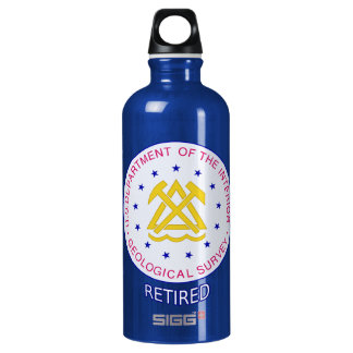US Geological Survey Retired Aluminum Water Bottle